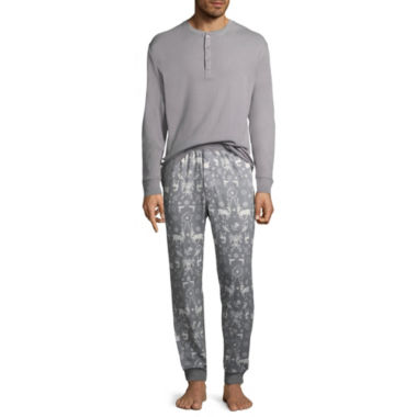 North Pole Trading Company Deer and More 2 Piece Pajama Set -Men's