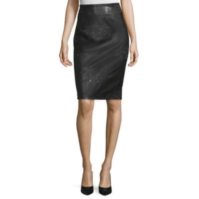 Worthington Womens High Waisted Pencil Skirt