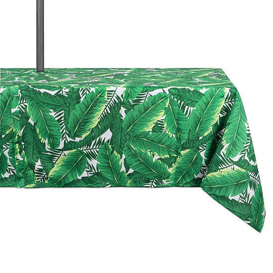 Design Imports Banana Leaf Umbrella Outdoor Tablecloth