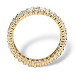 Womens 9 mm 4 3/4 CT. T.W. White Cubic Zirconia 14K Gold Over Brass Band