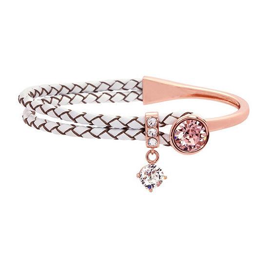 Sparkle Allure City Rocks -Swarovski - Made With Swarovski Elements Womens Pink Wrap Bracelet