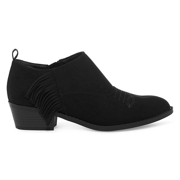 Arizona Womens Bellow Booties Block Heel Zip