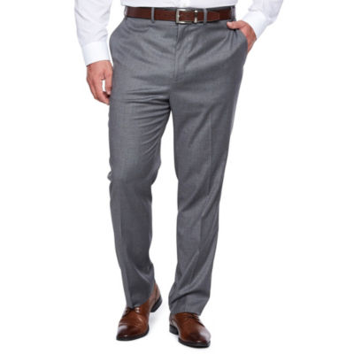 Shaquille O'Neal XLG Gray Solid Stretch Suit Pants - Big and Tall