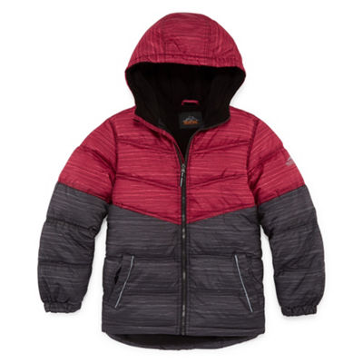 Pacific Trail - Boys Hooded Heavyweight Puffer Jacket-Big Kid