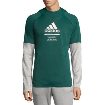 adidas Long Sleeve Fleece Abstract Hoodie