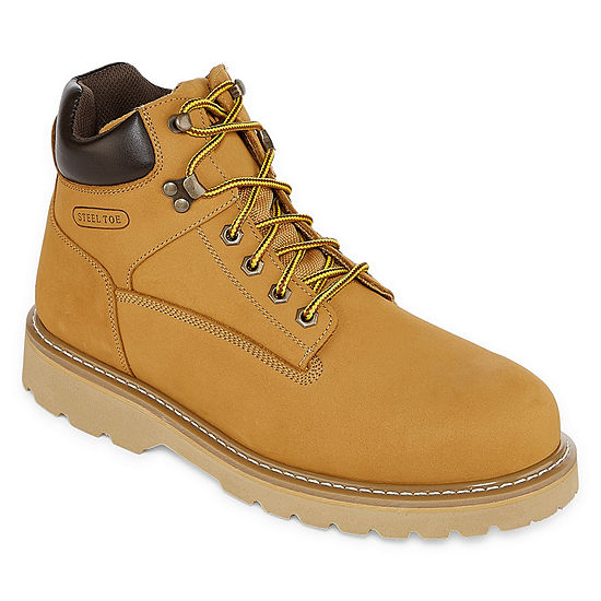 Big Mac Mens Moore Steel Toe Work Boots Lace-up