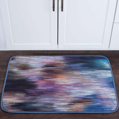 Tayse Rainbow Stria Contemporary Abstract Anti-Fatigue Comfort Kitchen Mat