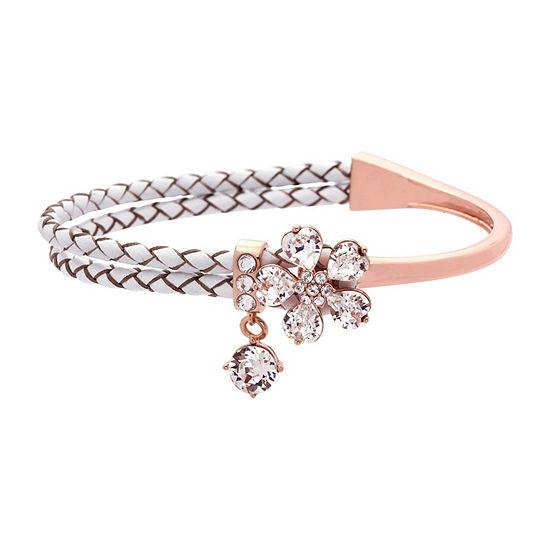 City Rocks Made With Swarovski Elements Womens Clear Wrap Bracelet