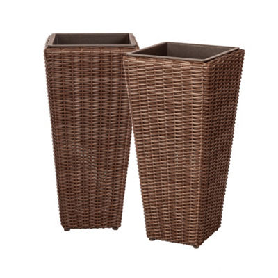 Master Alto 2-Piece Wicker Planter Set