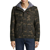 Levis Hooded Cotton Trucker With Sherpa Lining