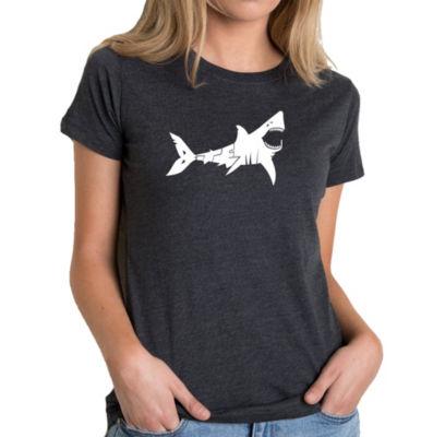 Los Angeles Pop Art Women's Premium Blend Word ArtT-shirt - BITE ME