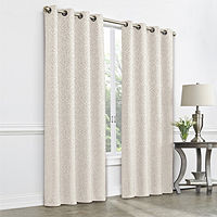Deals on JCPenney Home Plaza Tapestry Grommet-Top Single Curtain Panel