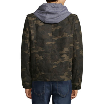 Levi's® Hooded Cotton Trucker With Sherpa Lining