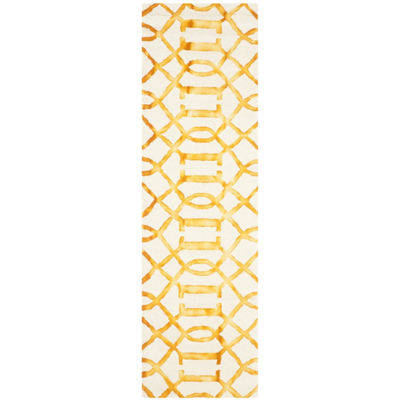Safavieh Dip Dye Collection Diamond Geometric Runner Rug
