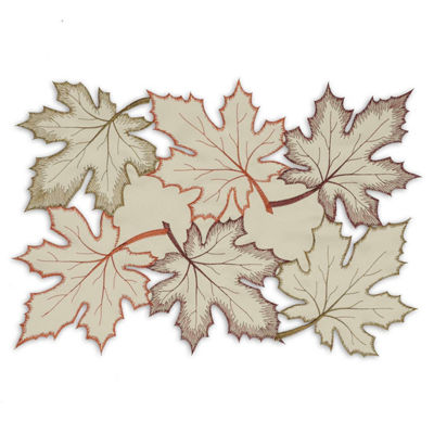 Design Imports Maple Leaves Embroidered Placemat Set of 6