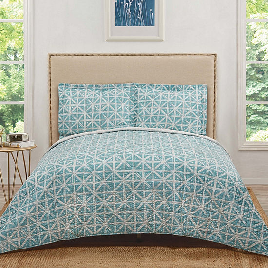 Truly Soft Everyday Celine 3-pc. Geometric Hypoallergenic Reversible Duvet Cover Set