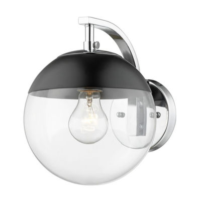 Dixon Sconce in Chrome with Clear Glass