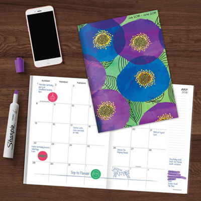 Tf Publishing July 2018 - June 2019 Poppies Monthly Planner