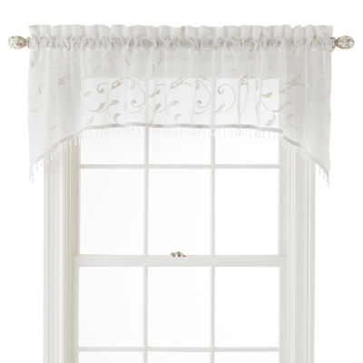 JCPenney Home Harmon Sheer Rod-Pocket Scallop Valance