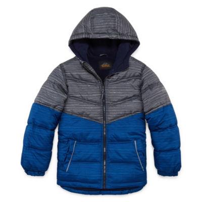 Pacific Trail - Boys Hooded Heavyweight Puffer Jacket-Big Kid