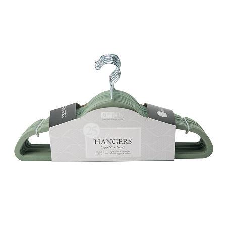Velvet Suit Hangers - 25 Pack, One Size , Green