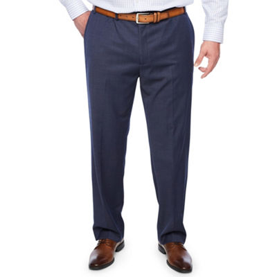 Collection by Michael Strahan  Navy Tic Suit Pants - Big and Tall