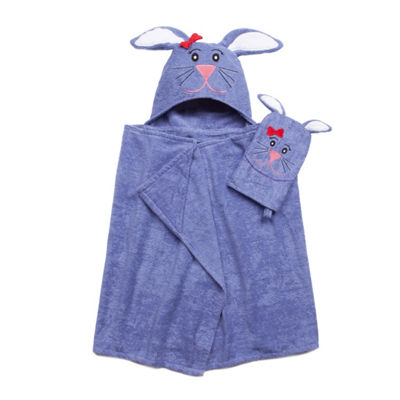 American Dawn Tub Time Tots Bunny Hooded Towel
