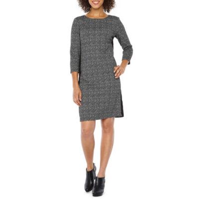 Alyx 3/4 Sleeve Pattern Sheath Dress