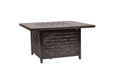 Master Armstrong Cast Aluminum Square LPG Fire Pit Table