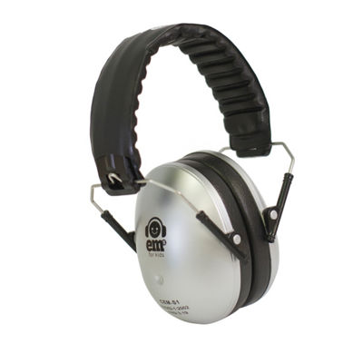 Ems for Kids Hearing & Noise Protection Earmuffs – Silver & Noise Protection Earmuffs – Silver Headband