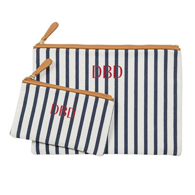 Cathy's Concepts Personalized Striped Clutch Set
