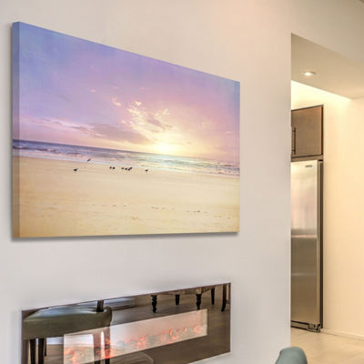 The Beach Is My Happy Place Painting Print on Wrapped Canvas