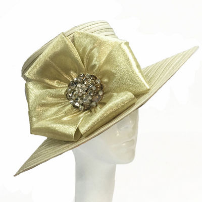 Whittall & Shon Large Bow Brim Derby Hat