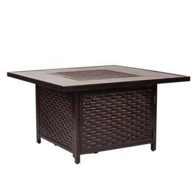 Master Baker Cast Aluminum Square LPG  Fire Pit Table