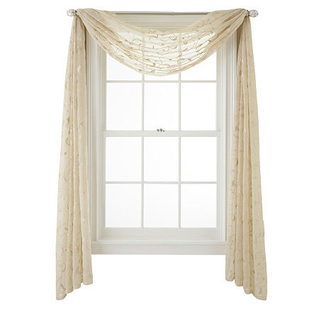 JCPenney Home Harmon Scarf Valance, One Size , Beige