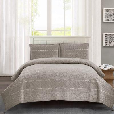Wonder Home Baymouth 3-pc. Cotton Quilt Set