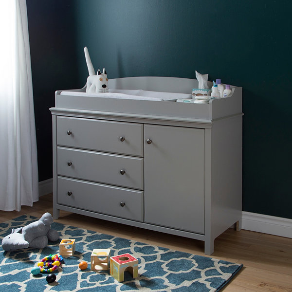Cotton Candy Changing Table with Removable Changing Station