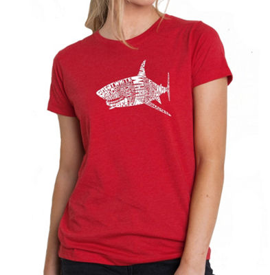 Los Angeles Pop Art Women's Premium Blend Word ArtT-shirt - SPECIES OF SHARK
