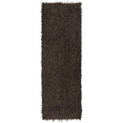 Safavieh Leather Shag Collection Akilah Solid Runner Rug
