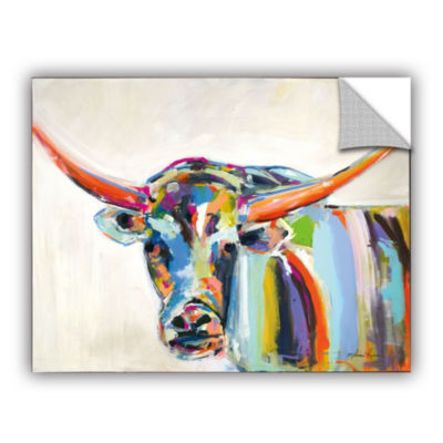Long Horn Removable Wall Decal