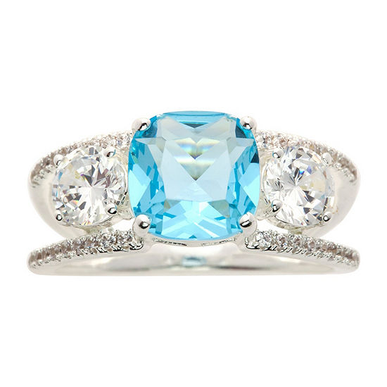 Sparkle Allure Blue Pure Silver Over Brass