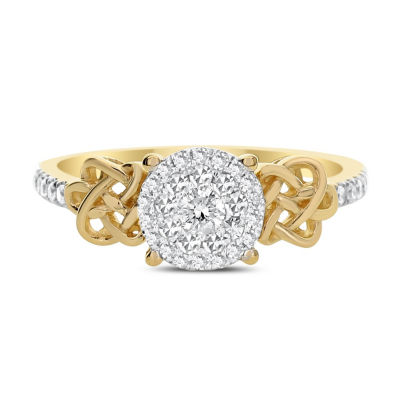 Womens 1/3 CT. T.W. Round White Diamond 14K Gold Engagement Ring