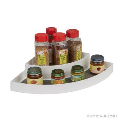 Mind Reader 3 Tier Corner Counter Step Storage Shelf Organizer, Gray