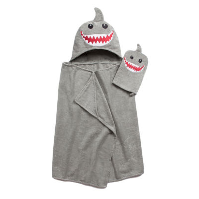 American Dawn Tub Time Tots Shark Hooded Towel