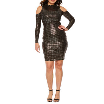 Bold Elements Long Sleeve Bodycon Dress
