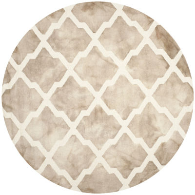 Safavieh Dip Dye Collection Petra Geometric RoundArea Rug