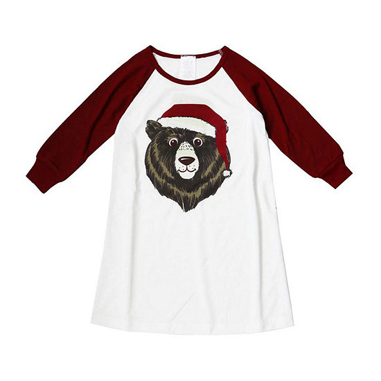 Holiday FAMJAMS Bear Gown - Girl's Toddler