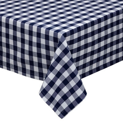 Design Imports Navy & White Checker Tablecloth