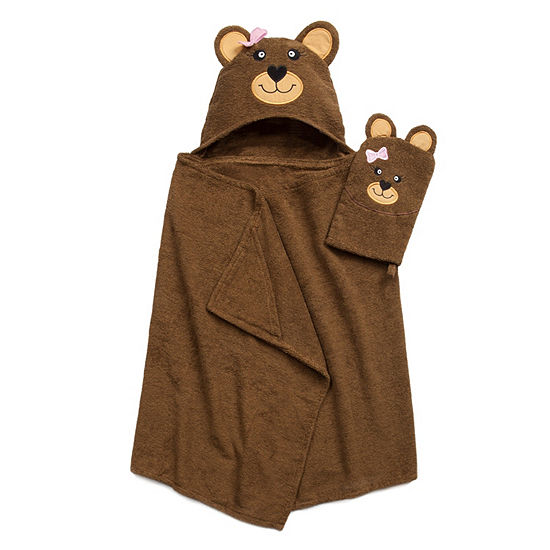 American Dawn Tub Time Tots Bear Hooded Towel