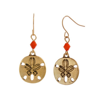 Mixit 4.25 Mixit Coral Turq Pearl Drop Earrings